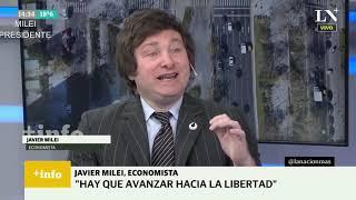 """""""Un dólar a $1400 es el ratio de conversión según las reservas del Banco Central"""" J. Milei- 22/09/20"""