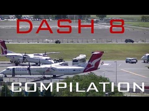 Dash 8 Action At Brisbane Airport- A Dash 8 Compilation