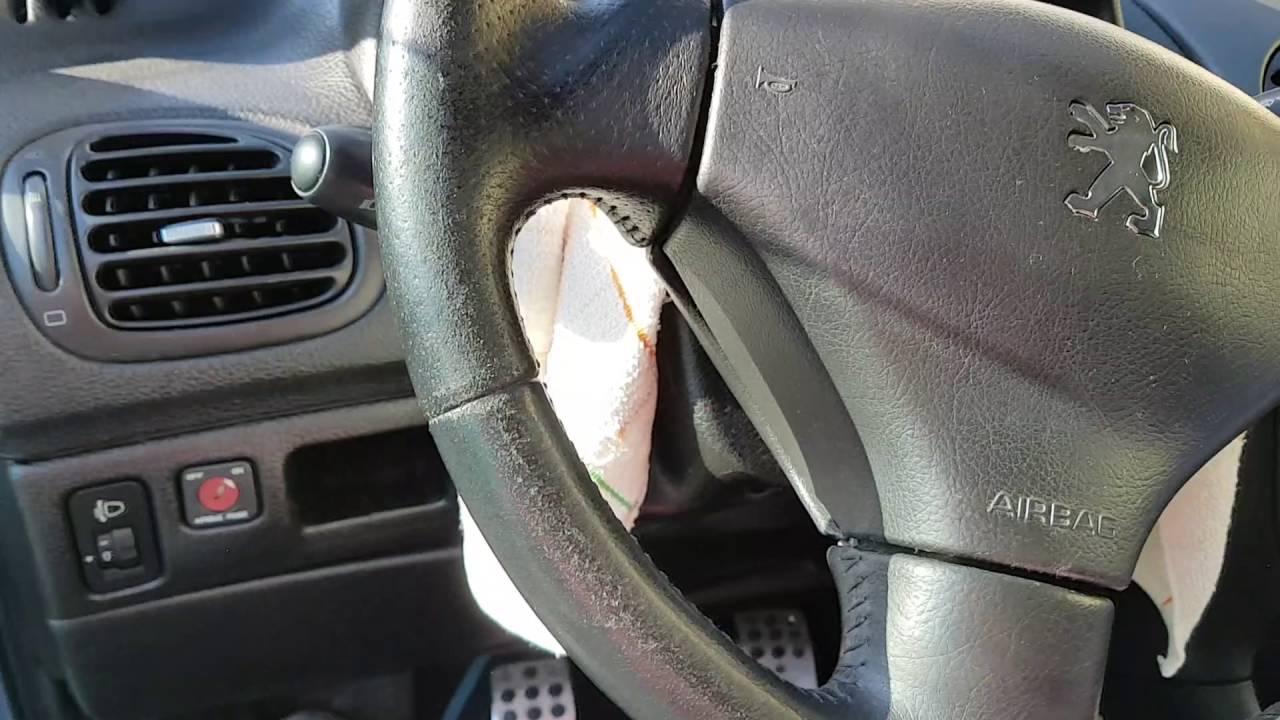 Réfection du volant cuir de la 206 cc partie 1 - YouTube