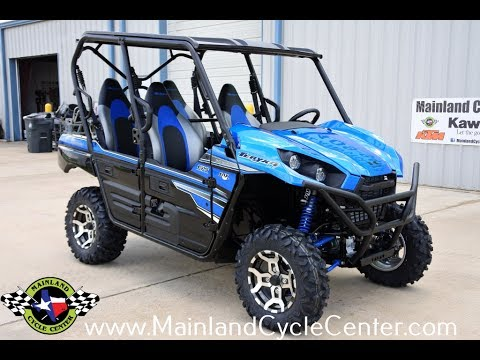 $16,999: 2018 kawasaki teryx4 le candy plasma blue overview and