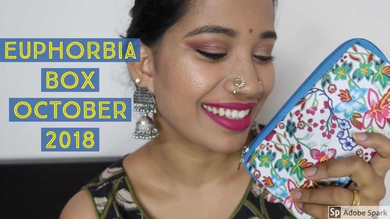 Euphorbia Box Unboxing I October 2018 I Blush with ASH