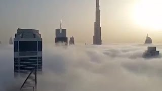 the tallest building in dubai - jumping from the building Burj Khalifa