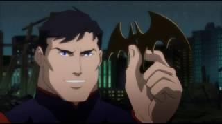 Лига справедливости: Война (2014) Бэтмен и Зеленый фонарь против Супермена
