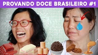 Chineses Provando DOCES DO BRASIL #1 | Pula Muralha