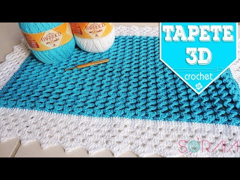 TAPETE 3D - CROCHET