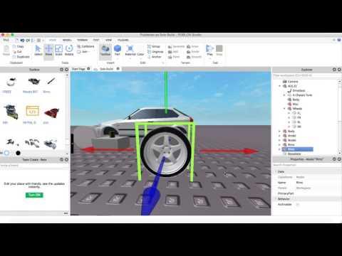 Roblox Car Tutorial - A-Chassis Wheel Swap