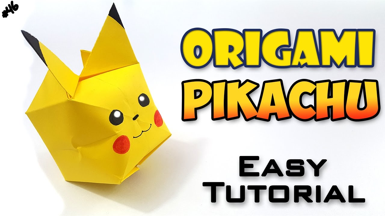 Origami Pikachu - Easy Tutorial - English Version on