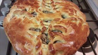 ПИРОГ Вкусный и простой рецепт дрожжевого пирога с МЯСОМ и ГРИБАМИ