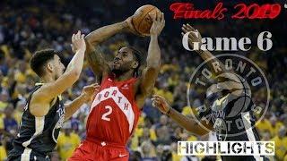 Toronto Raptors vs Golden State Warriors Game 6