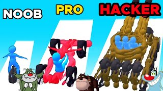 Noob vs PRO vs Hacker In Human Vehicles 3D | Oggy jack Game Video Funny Gameplay Video Kisan Gaming