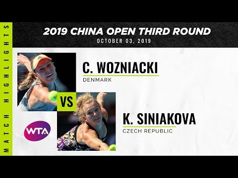 Caroline Wozniacki vs. Katerina Siniakova | 2019 China Open Third Round | WTA Highlights