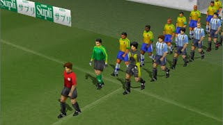 Winning Eleven 4 [PS1] Exhibition: Argentina vs Brazil (5 min)