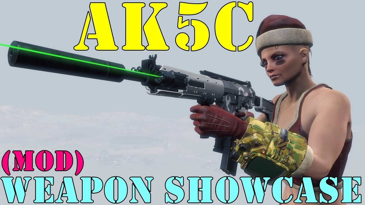 Fallout 4: Weapon Showcases: AK5C (Mod)