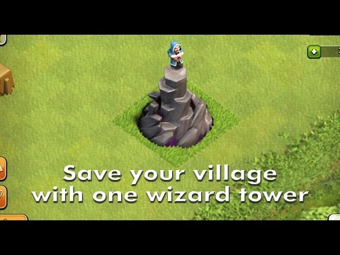 Clash of clan -Save Your Village With One Wizard Tower[HD]
