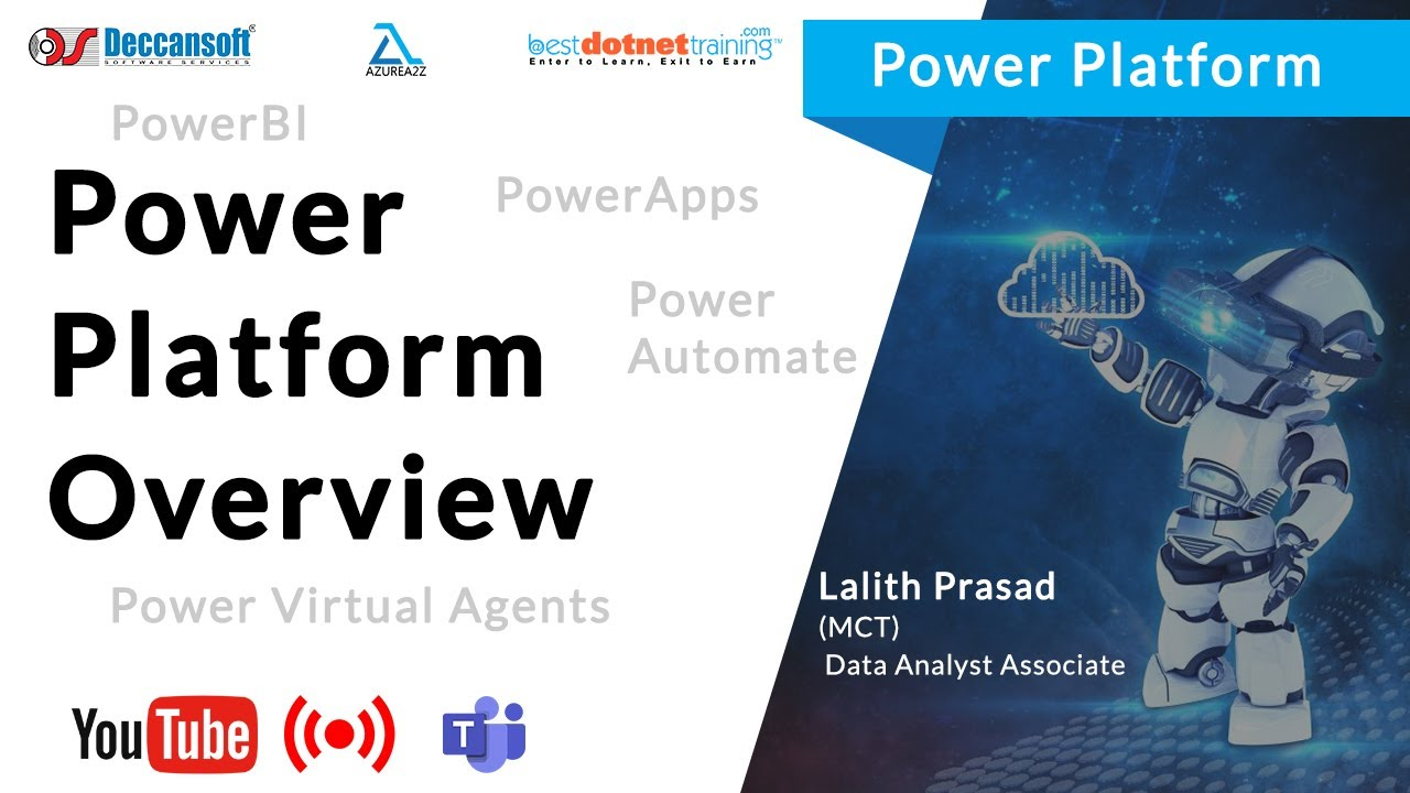 Power Platform Overview | PowerBI, PowerApps, Power Automate, Power Virtual Agents