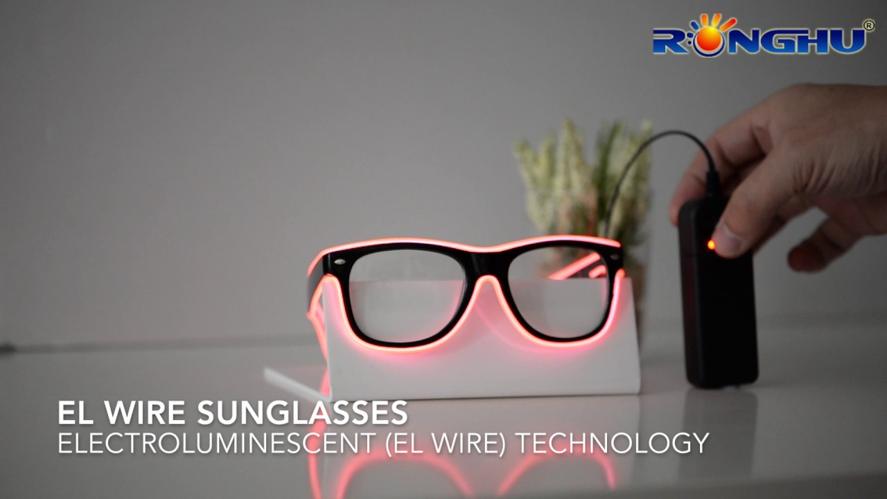 EL Wire Glasses - YouTube