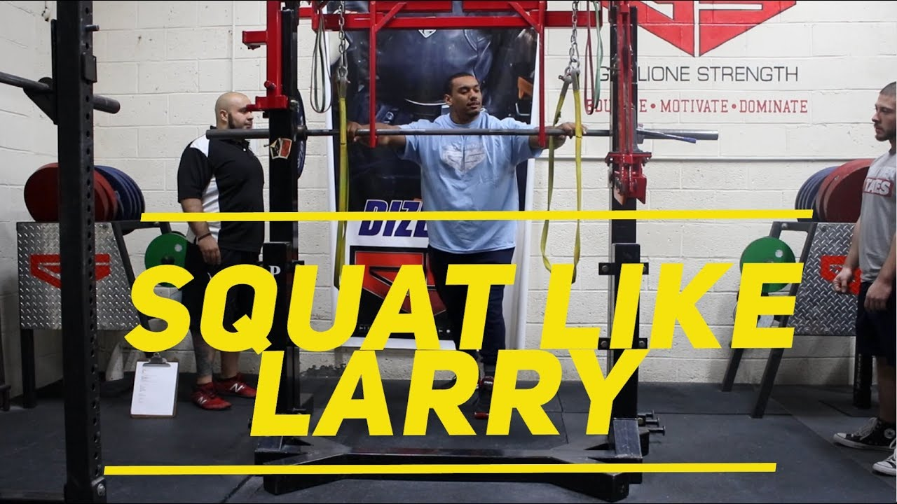 How to Squat For Powerlifting With Larry Wheels!