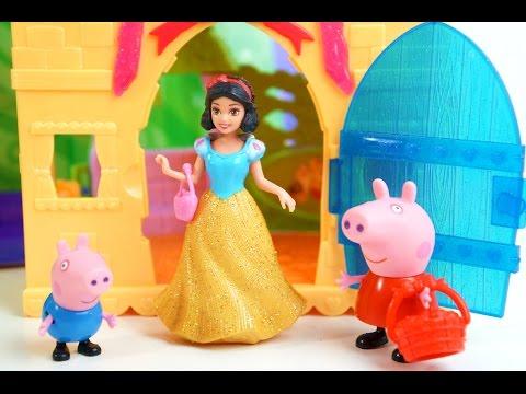 Peppa Pig e George Conhecem a Casa da Branca de Neve MagiClip Brinquedos KidsToys em Português