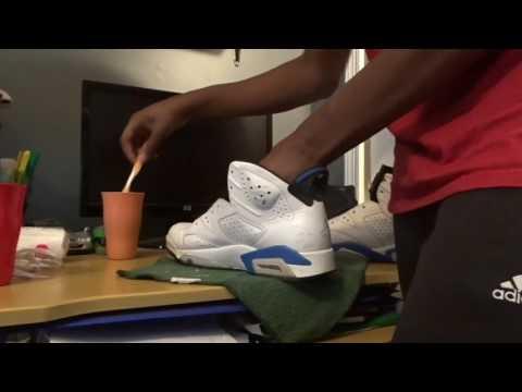 How to clean air Jordan sport blue 6s