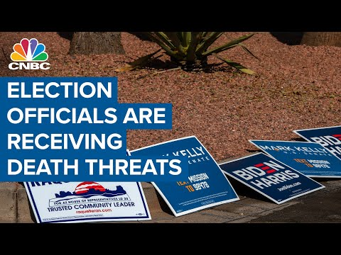 Election officials around the country are receiving death threats