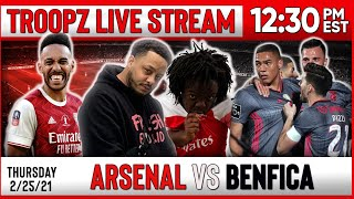 ARSENAL 3-2 BENFICA | WATCHALONG W/TROOPZ AND ZAH
