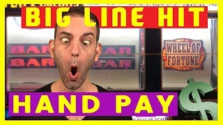✋💸HANDPAY for a BIG Line Hit💸🎡Wheel of Fortune Slots + HIGH LIMIT Play🍸Cosmo LAS VEGAS ✦ BCSlots