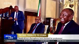 South Africa's Ramaphosa hosts farewell for predecessor