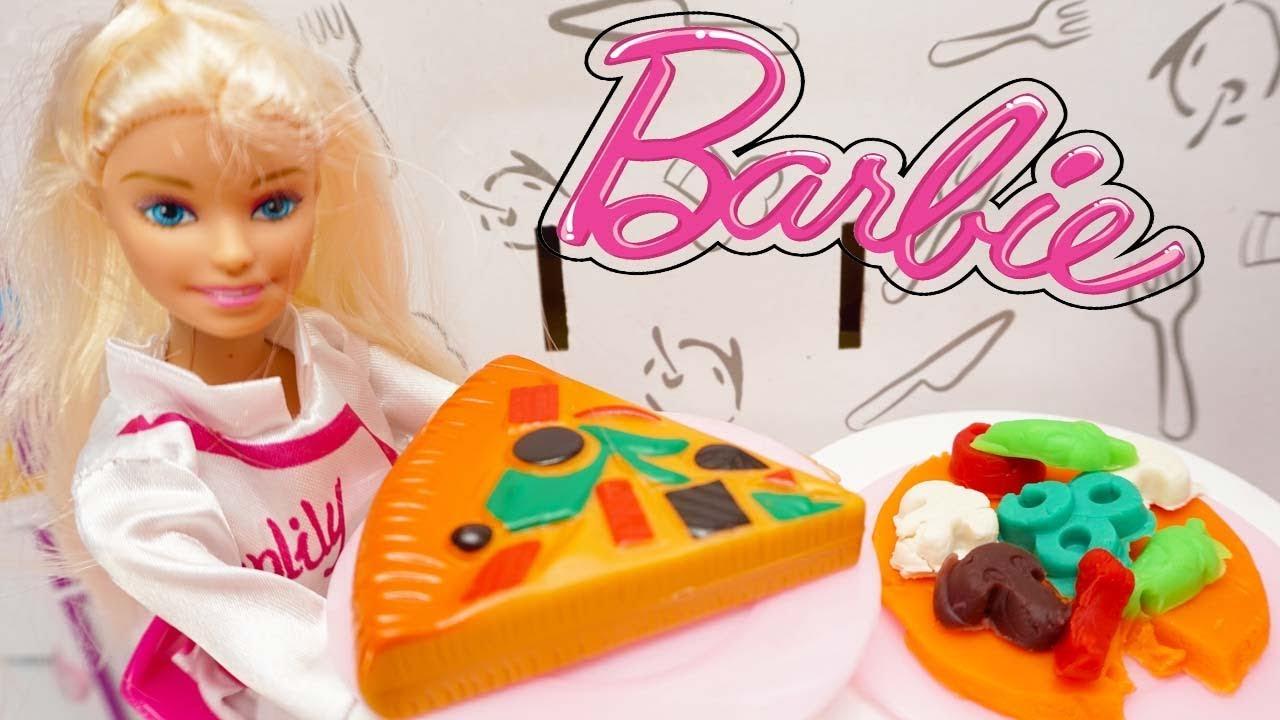 Barbie Masak Mainan Anak Masak Pizza Barbie Masak Pizza Memasak Pizza Dalam Microwave Barbie Toy Youtube