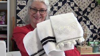 Embellishing Hand Towels