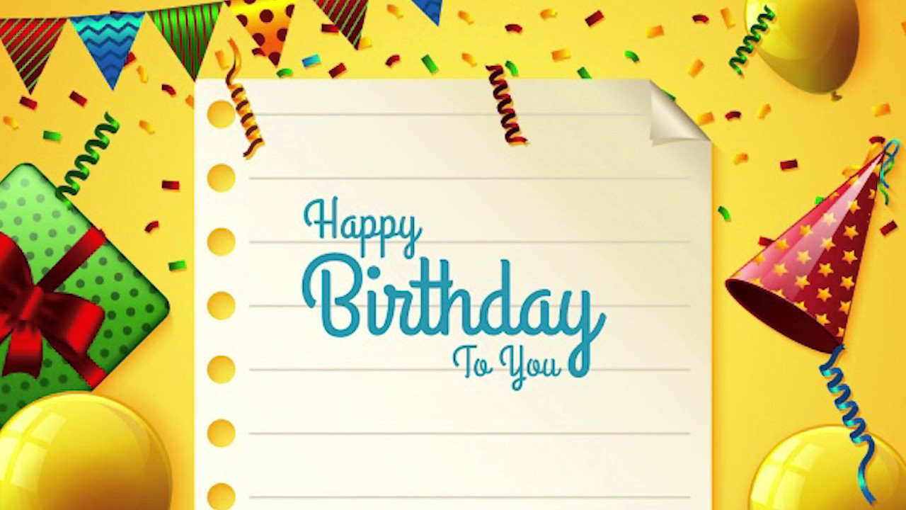 Birthday Background With Party Elements Free Photoshop Template