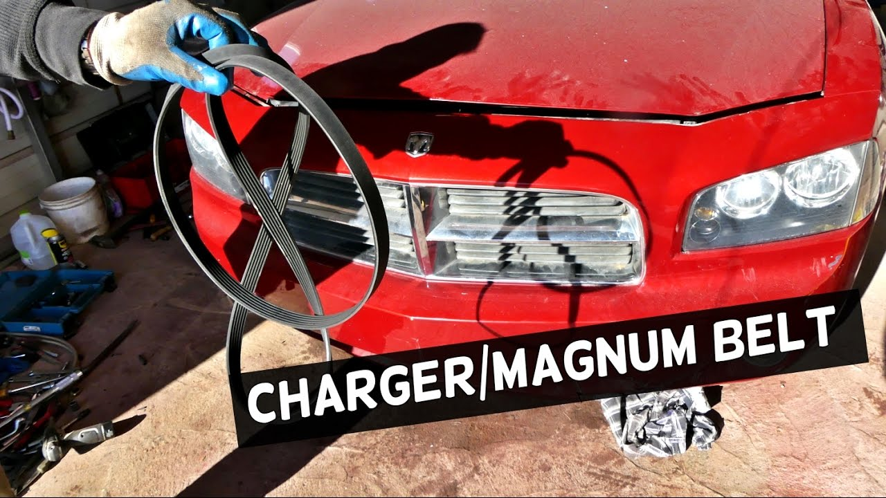 hight resolution of dodge charger 3 5 serpentine belt diagram and replacement dodge magnum youtube