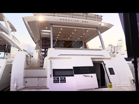 2019 Prestige 680 Luxury Yacht - Deck Interior Walkaround - 2018 Fort Lauderdale Boat Show