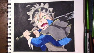 How To Draw Asta (Black Clover)