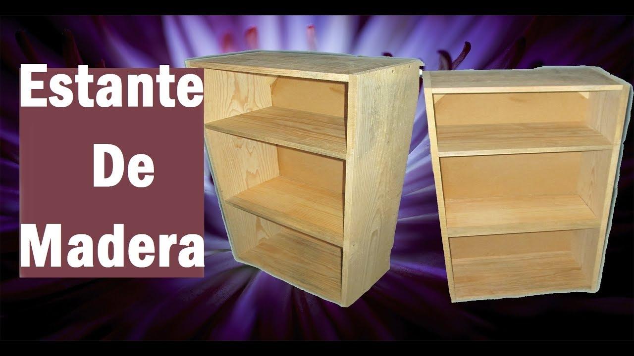 Como hacer estante librero sencillo de madera 3 youtube - Como hacer un altillo de madera ...