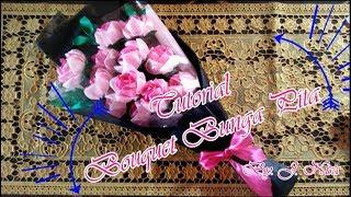 DIY Tutorial Lengkap Bouquet Bunga Mawar dari Pita By J Nisa