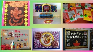 Bulletin board ideas on diwali | diwali school display board || school decoration