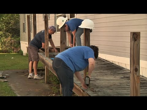 Nonprofits partner with contractor to build wheelchair ramp for family
