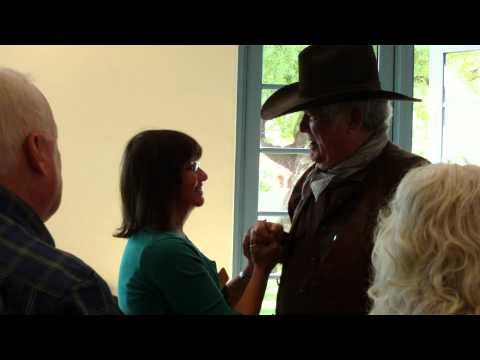 Don Collier arrives at the 2011 High Chaparral Reunion