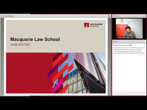 Juris Doctor webinar - May 2017
