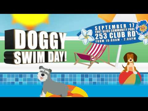 Doggy Swim Day with Fort Bliss Family and MWR
