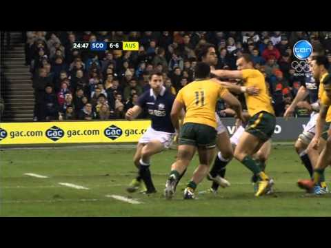 The Wallabies Vs Scotland 2013 Highlights - RWC 2015 Is Coming Home To Australia