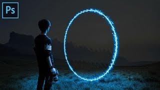 Photoshop Tutorial - Portal Neon Glow Effect - Photo Manipulation
