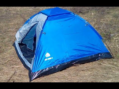 """Палатка трехместная Trek Planet """"Lite Dome 3"""" Распаковка на природе"""