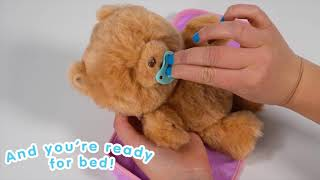 Little Live Pets Super Soft and Interactive Cuddly Teddy Bear for Bedtime!