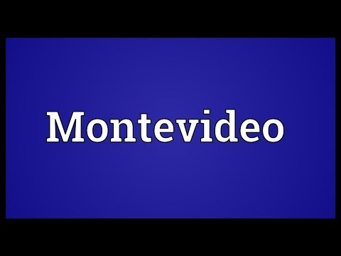 Montevideo Meaning