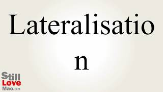How to Say Lateralisation in Chinese
