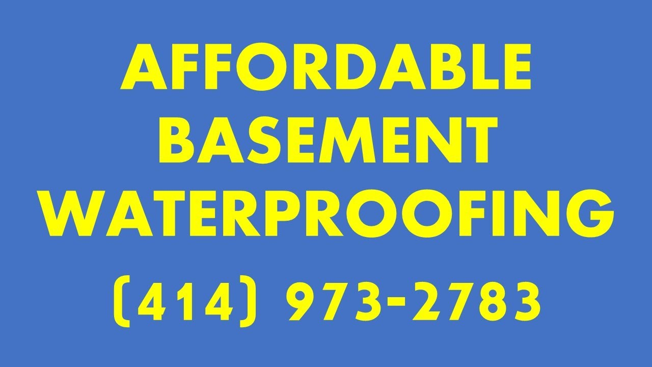 Basement Waterproofing Milwaukee | (414) 973 2783 | Basement Repairs  Milwaukee