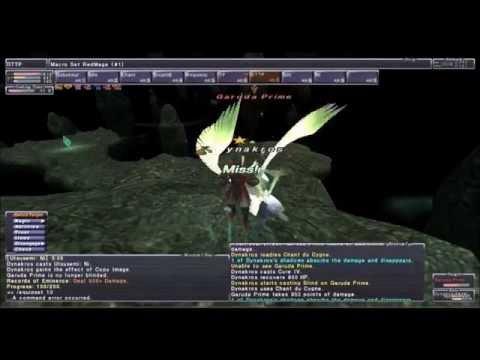 Final Fantasy XI - Trial by Wind Garuda solo (RDM) (Very Difficult)