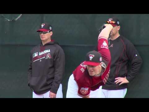 New Diamondbacks pitchers work out at Salt River