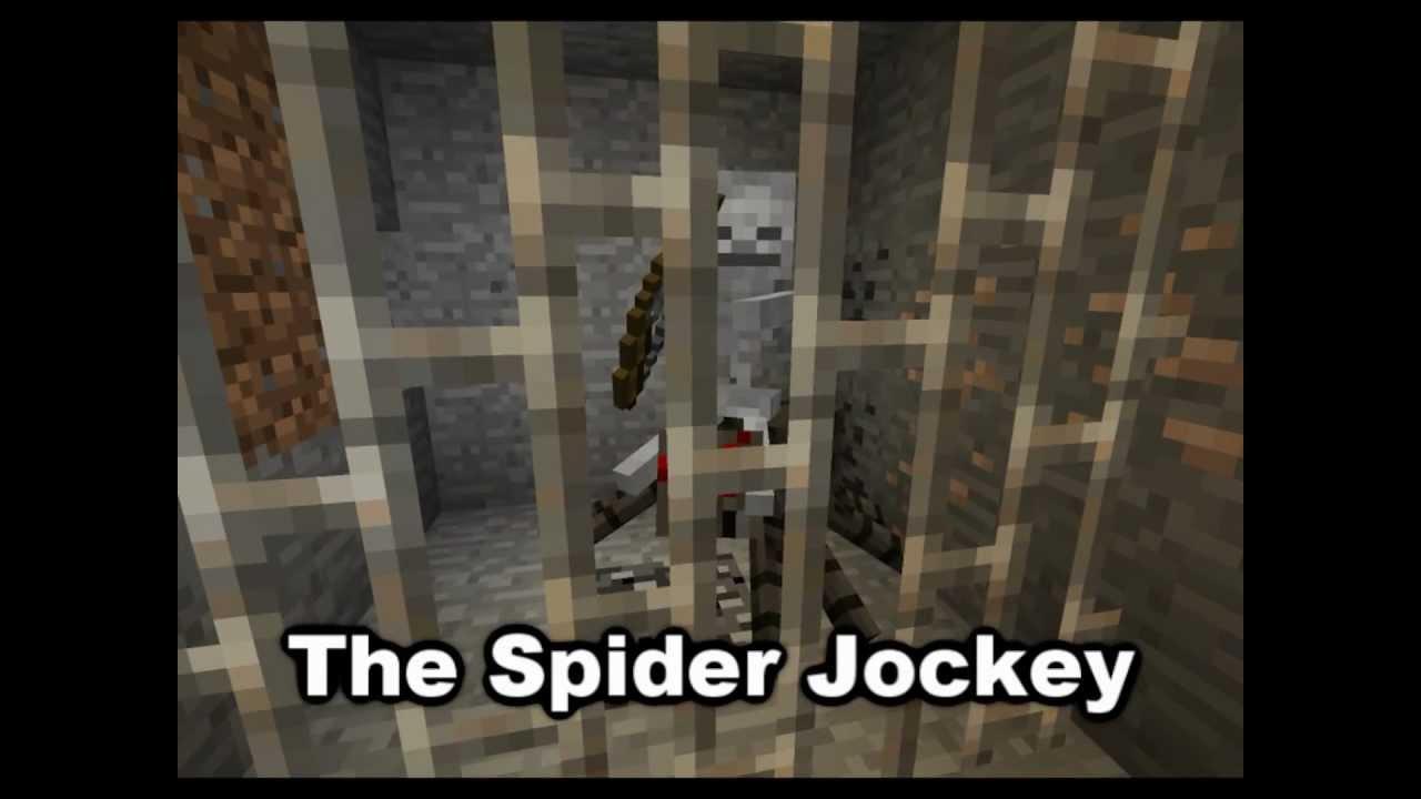 Minecraft Mob Guide Spider Jockey Hd Youtube